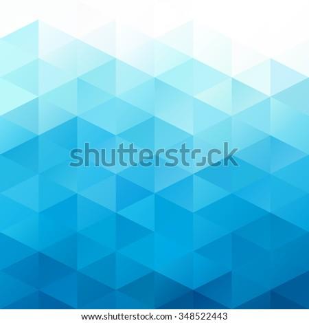 Blue Grid Mosaic Background, Creative Design Templates - stock vector
