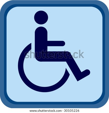 Blue Handicap sign - stock vector