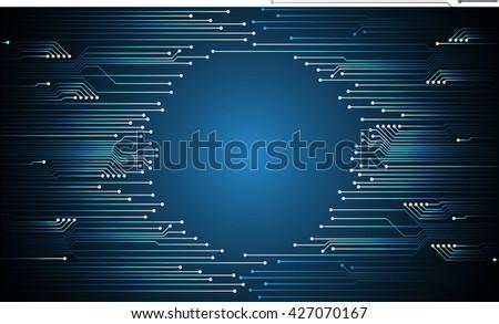 blue high tech circuit board, abstract circuit board, Circuit board background, digital circuit, cyber circuit technology. - stock vector