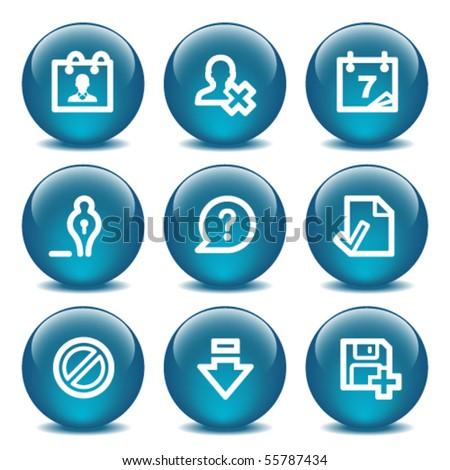 Blue internet buttons 2 - stock vector