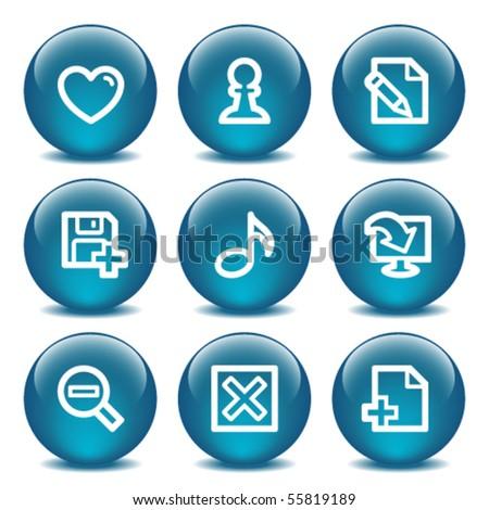 Blue internet buttons 10 - stock vector