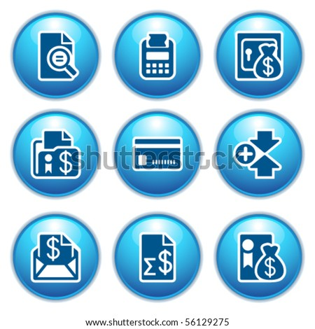 Blue internet icons 14 - stock vector