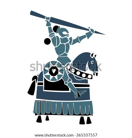 blue knight - stock vector
