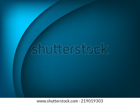 Blue layer background color with curve line for text and message modern artwork design - stock vector