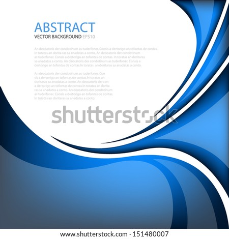 Blue line background modern graphic for texture and pattern design. message board for text and message design - stock vector