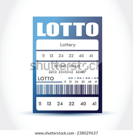 blue lotto ticket illustration design over a white background - stock vector