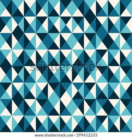 blue low poly pattern background. Vintage vector pattern. - stock vector