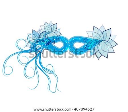 blue mask. Vector template - stock vector