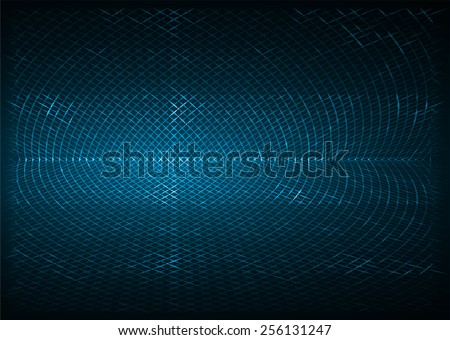 blue metal mesh Pattern, Vector, illustration. texture. Wire. fence. Abstract Technology background for computer graphic website internet and business. - stock vector