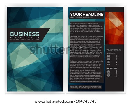 Blue Modern Brochure Template - EPS10 Vector Design - stock vector