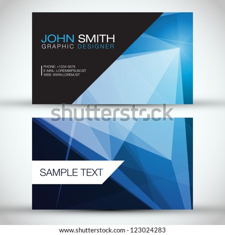 Blue Modern Business-Card Set | EPS10 Vector Design - stock vector