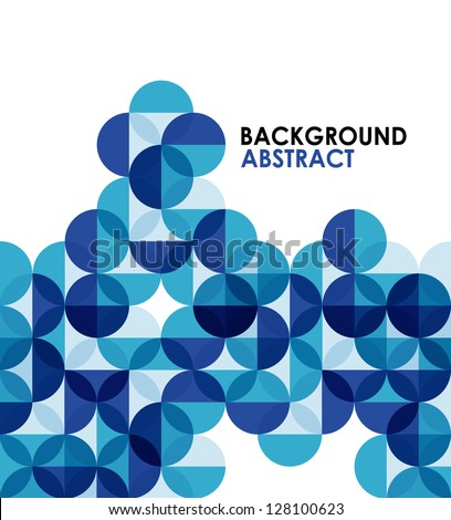 Blue modern geometric abstract background - stock vector
