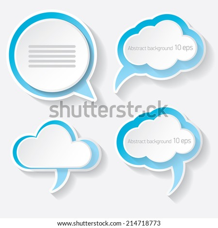 blue modern paper banners set / can be used for infographics / numbered banners / horizontal cutout lines / graphic or website layout vector - stock vector