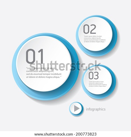 blue modern progress paper banners / can be used for infographics / numbered banners / horizontal cutout lines / graphic or website layout vector - stock vector