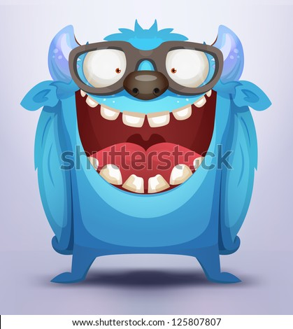 Blue Monster - stock vector