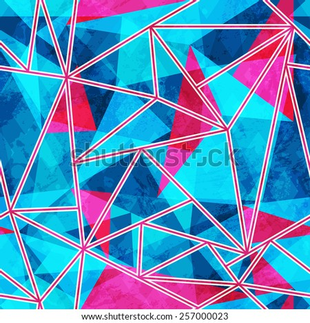 blue mosaic seamless pattern  - stock vector