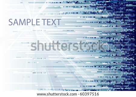 Blue motion background - stock vector