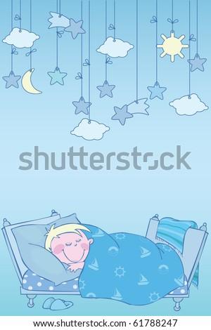 Blue night - stock vector
