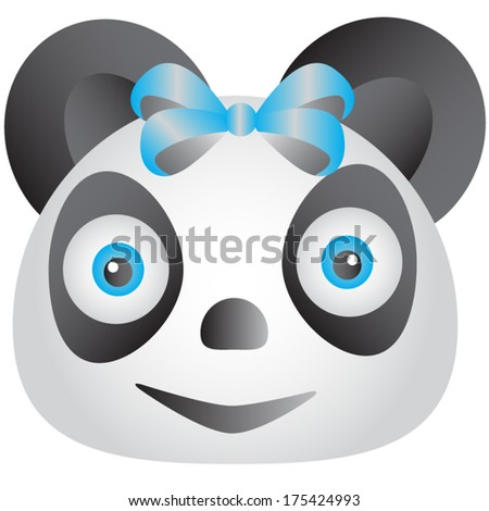 Blue Panda - stock vector
