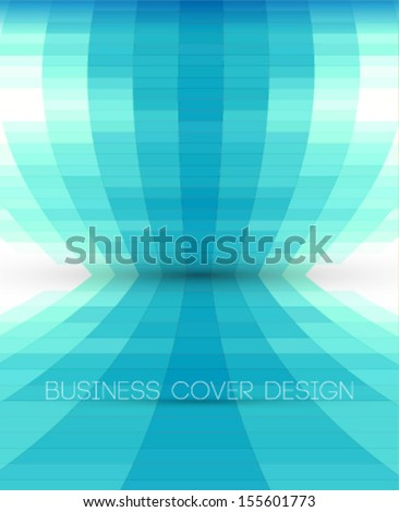 blue perspective background with stylish mosaic concept - stock vector