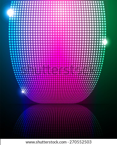 blue pink green Abstract light lamps background for Technology computer graphic website internet and business. Screen on stage. Vector illustration. Spot Effect. neon. point. dot - stock vector