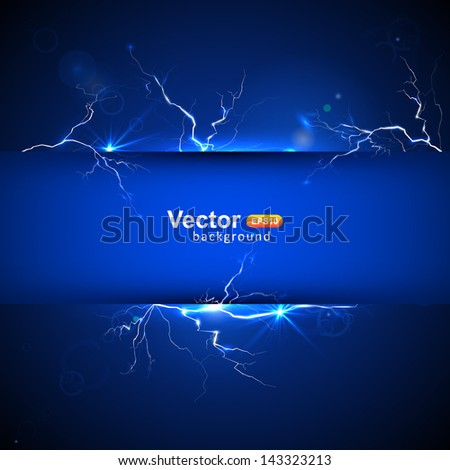 Blue plate under voltage, the discharge current - stock vector