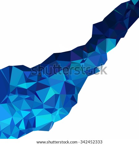 Blue Polygonal Mosaic Background, Creative Design Templates - stock vector