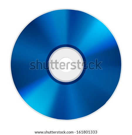 blue ray disc icon - stock vector
