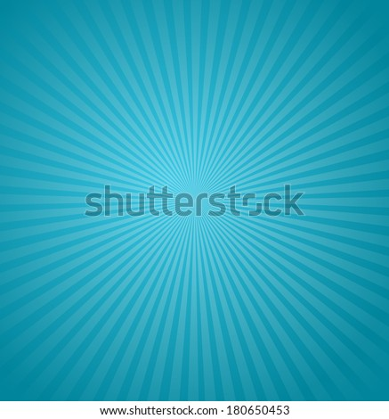 Blue rays background. - stock vector