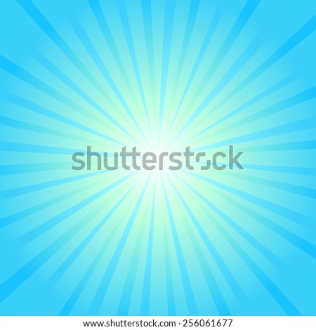 Blue rays background. Illustration for your bright beams design. Vector - stock vector