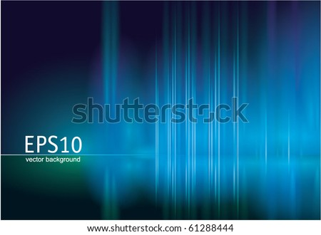 Blue reflection. Vector. - stock vector