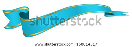 blue ribbon - stock vector