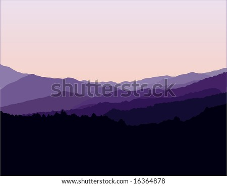 Blue Ridge Mountains Landscape - stock vector