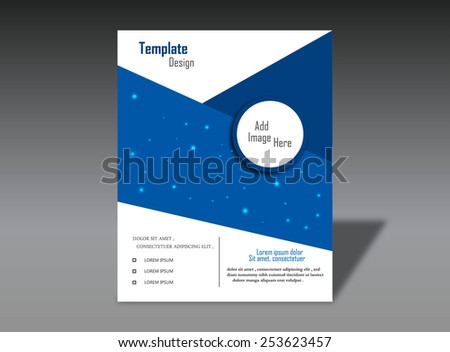 Blue Ring Brochure - stock vector