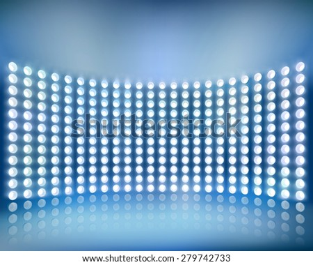 Blue screen panel. Vector illustration. - stock vector