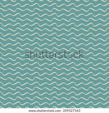 blue seamless waves abstract vector pattern - stock vector
