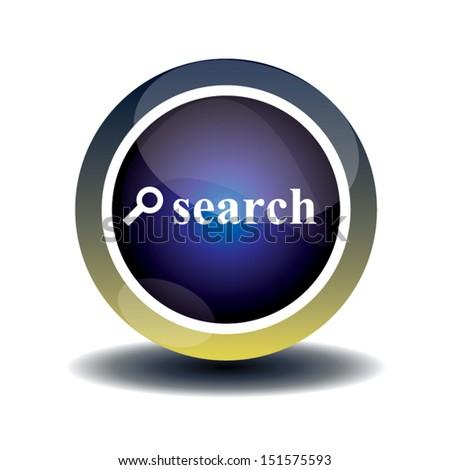 blue search button design. vector illustration - stock vector