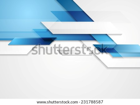 Blue shiny hi-tech motion background. Vector design - stock vector