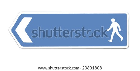 blue sign - stock vector
