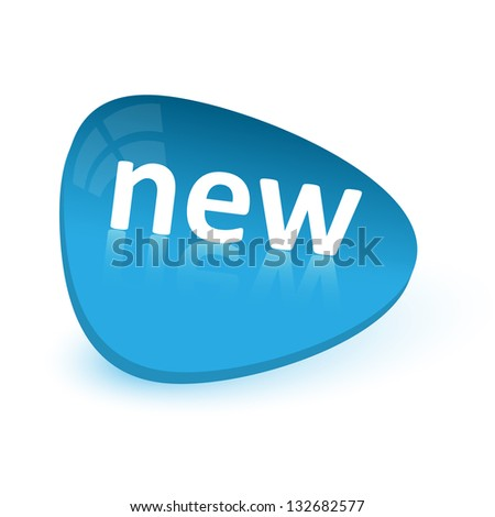 Blue simple sticker -new - stock vector