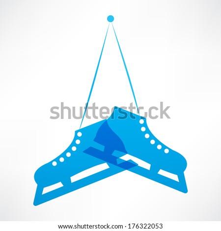 Blue skates - stock vector