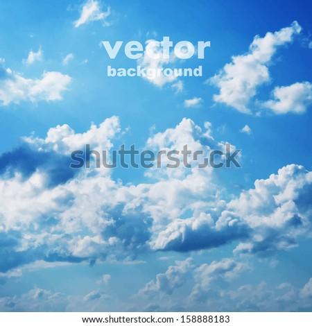 blue sky vector background - stock vector