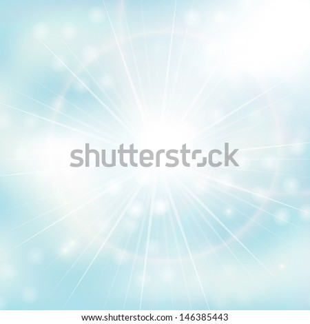 blue sky with clouds background - stock vector