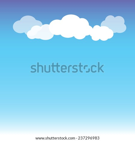 Blue sky with white cloud abstract background. - stock vector