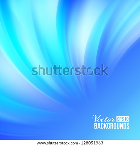 Blue smooth background. Vector illustration, eps 10, contains transparencies. - stock vector