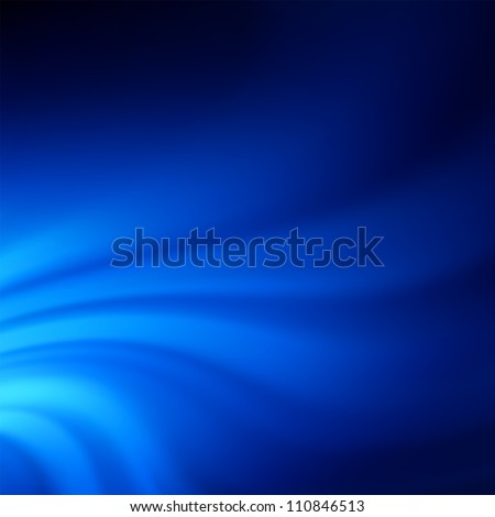 Blue smooth twist light lines background. EPS 8 vector file included - stock vector