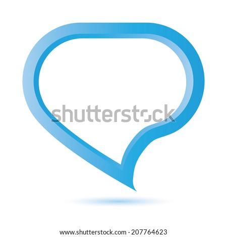 blue speech bubble - stock vector