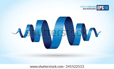blue spiral abstract object - stock vector
