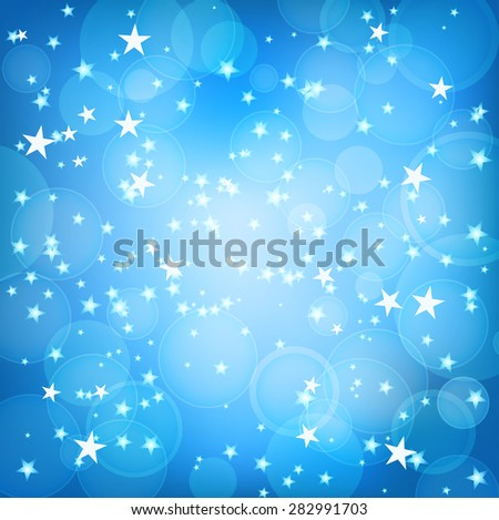 blue square background with stars - stock vector