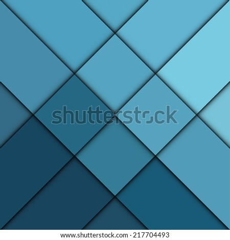Blue squares abstract background - Vector - stock vector